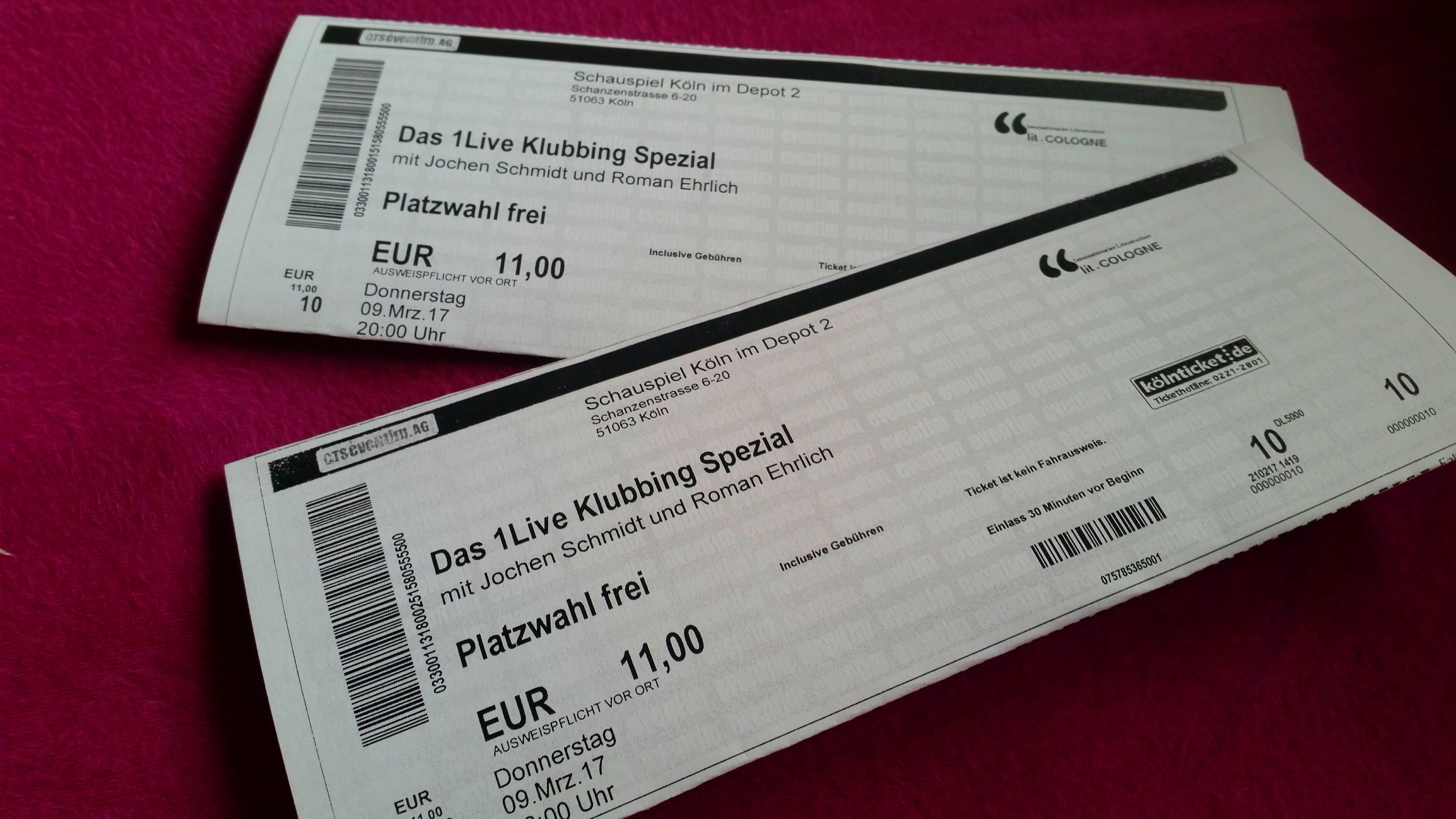Lesung lit.cologne Tickets